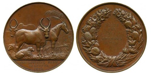 India, Calcutta Agricultural Show medal