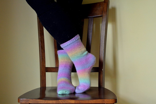 Rainbow sherbet socks