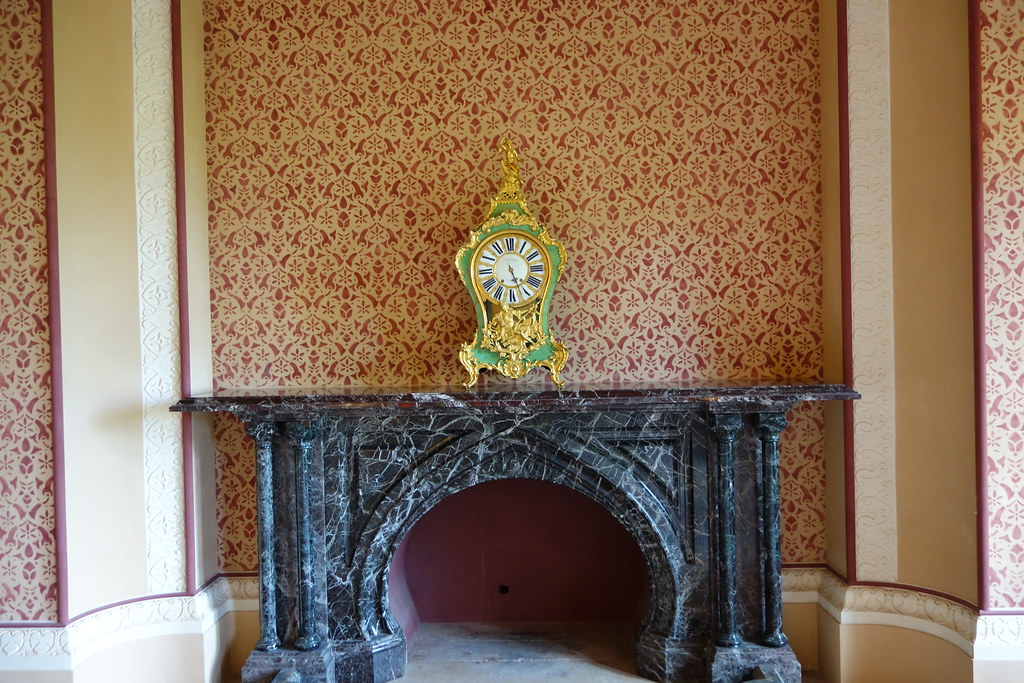 Fireplace, Monserrate Palace/Palacio de Monserrate, Sintra, Portugal