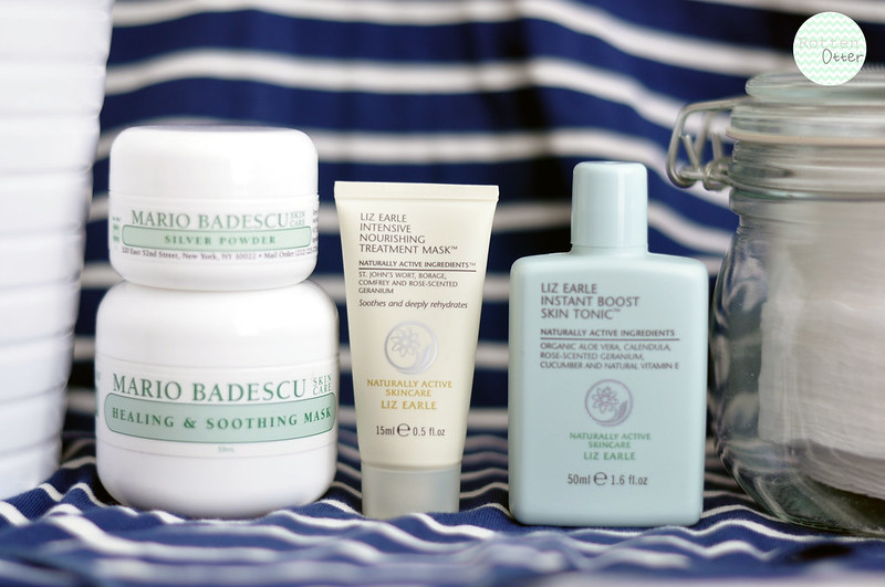 trio of masks mario badescu soothing and calming silver powder liz earle nourishing rottenotter rotten otter blog