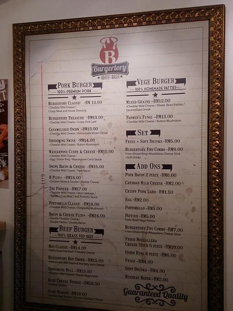 burgertory ss15 subang - menu