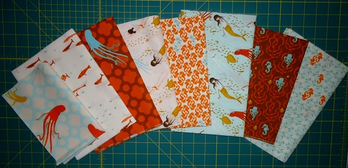 Heather Ross Mendocino Aqua Fat Quarters