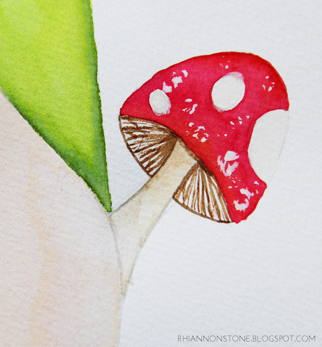 Mushroom Project - Watercolour
