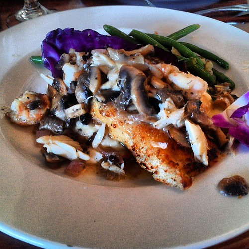 Grouper Pontchartrain # seafood #orangebeach #alabama