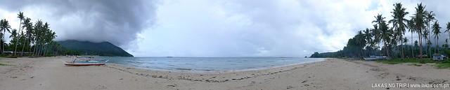 Panoramic Shot of the beach in Sabang, Puerto Princesa, Palawan