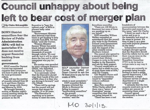 Jan 30 2013 Council Bears Cost of Merger0001 by CadoganEnright