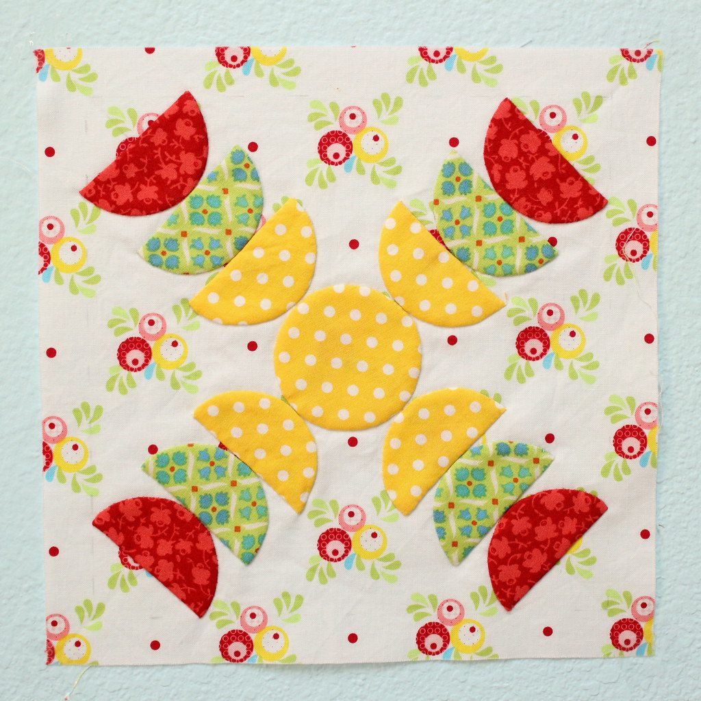 Green Tea and Sweet Beans Quilt Block
