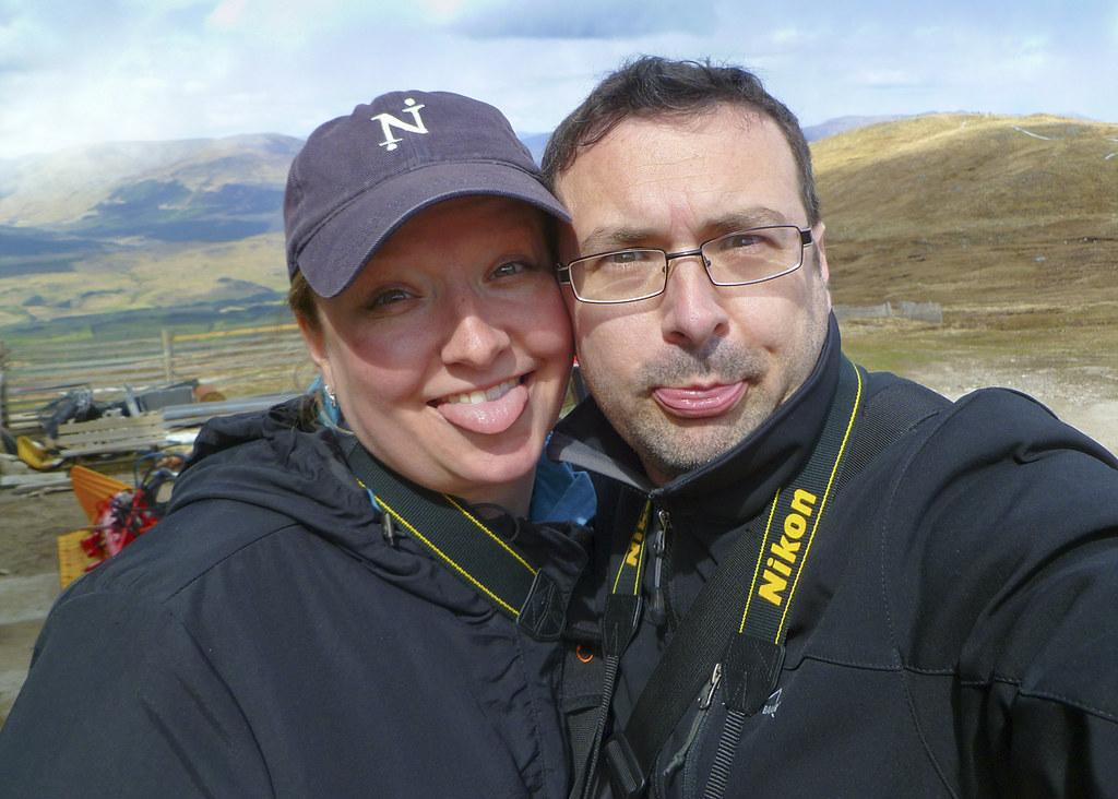 Selfie - having fun touring Scotland