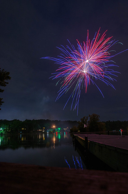 Dock fire works