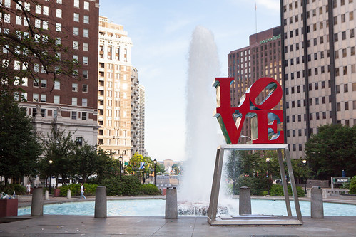 LOVE Park or officially known as JFK Plaza in Philadelphia, PA