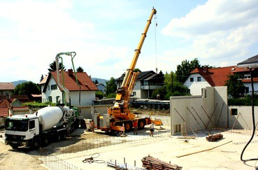 Baustelle beim EFG Gemeindezentrum