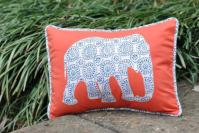 Royal Elephant Pillow for Stitch Magazine Lindsay Sews
