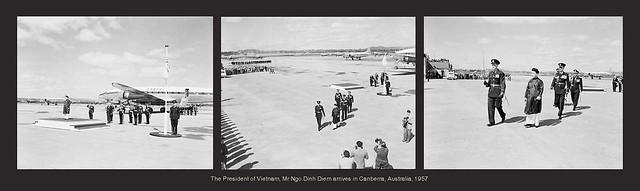 Mr Ngo Dinh Diem arrives in Canberra, Australia, 1957