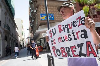 Concentración por el reparto de la riqueza en Canarias. ALQL-8