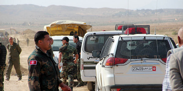 Tunisian security forces operating near Chaambi Mountain, June 2012. Image courtesy Maghrebia via Wikimedia Commons