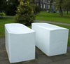 050414 Edinburgh Deane Gallery Sculpture Garden Rachel Whiteread Untitled (Pair) 1999, 2 by mpj1952