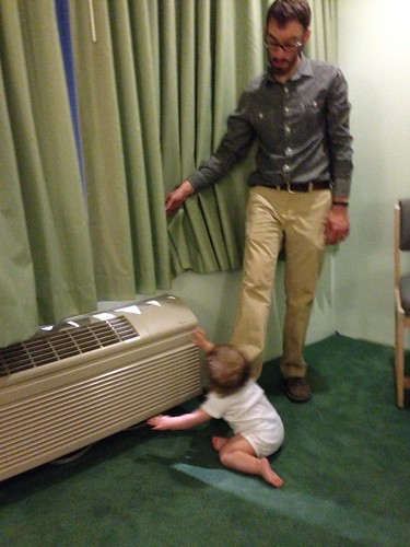 Daddy and Martin Play with Air Conditioner