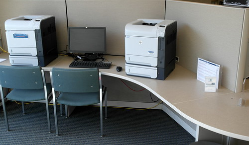 Image of print release station