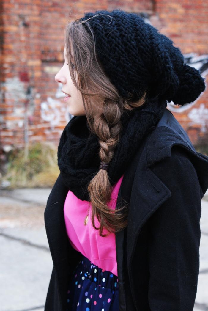 fryzura włosy warkocz blondynka