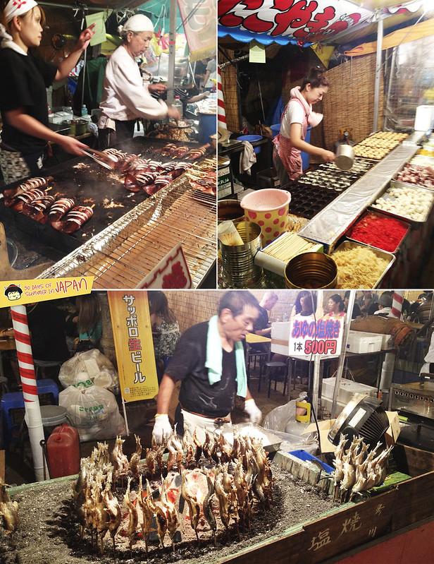 Mitama Matsuri 2013 - summer festival in Tokyo - food stalls - vendors