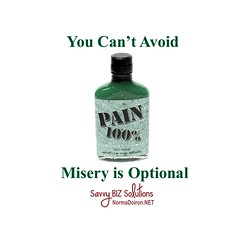 You can`t avoid pain but misery is optional1