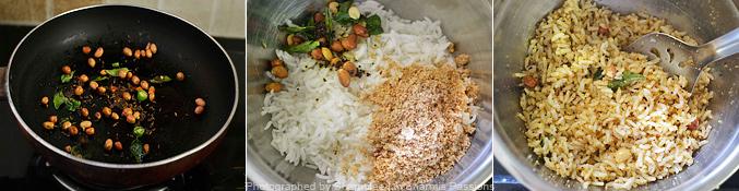 How to make peanut rice - Step2