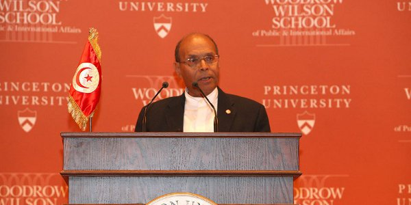 President Moncef Marzouki at Princeton University, September 2013. Photo courtesy Marzouki's Facebook page