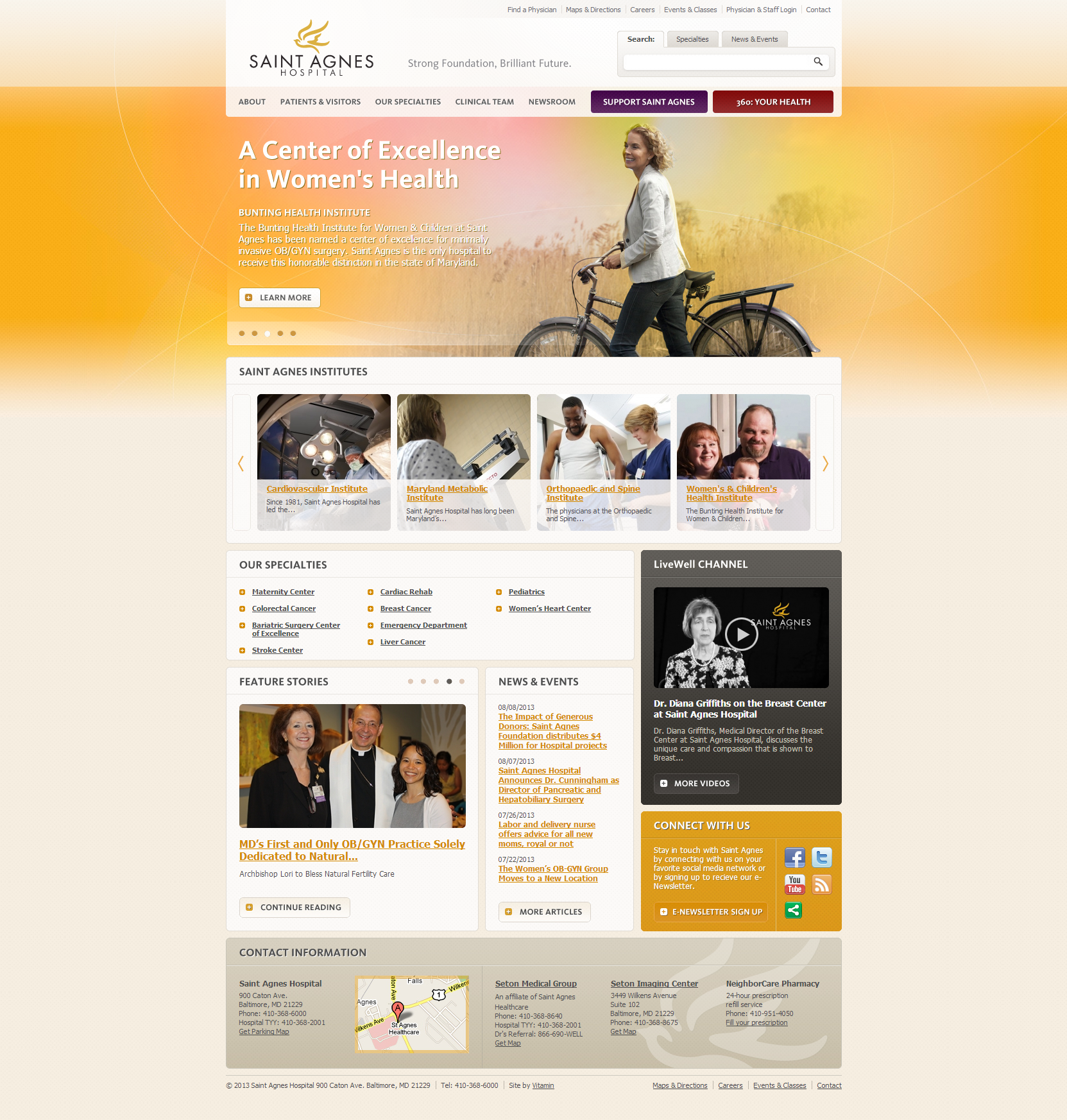 Saint Agnes Hospital Beautiful Health Website