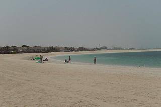 Image of Jumeirah Open Beach. beach bay sand dubai bright empty jumeirah