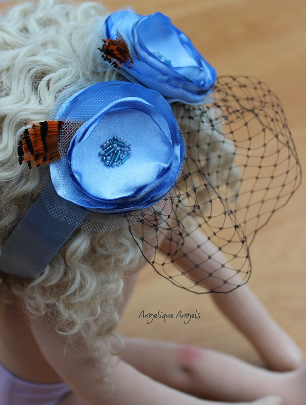 Blue Dolly-sized Fascinator