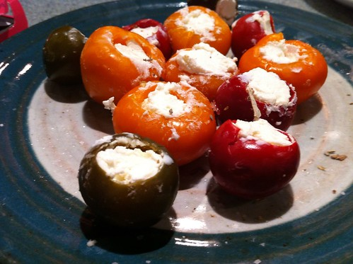 goat cheese stuffed peppadew