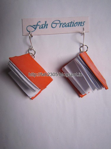 Handmade Jewelry - Paper Book Earrings (2) by fah2305