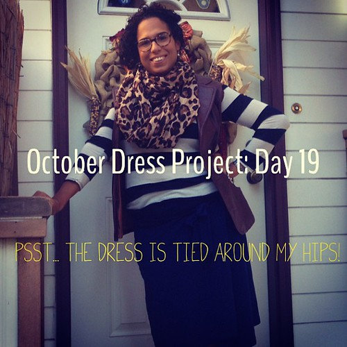 #ODP: Day 19. Skirt tied around my waist. Leather vest used to be a jacket before I took the arms off #ABeautifulMess