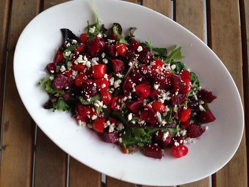 beet and tomato salad