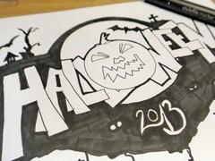 Zeichnung Halloween (Jack O'Lantern)