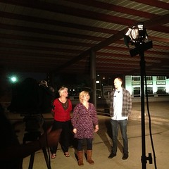 Nadine and Garrett on KTAL NOW about Texas Avenue Makers Fair and UNSCENE! this Saturday. #texasavenue #unscene