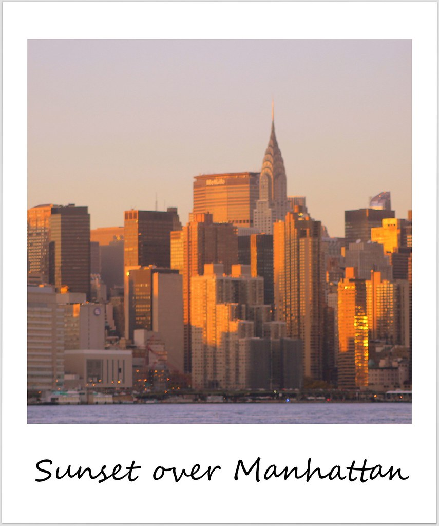 polaroid of the week new york city manhattan sunset