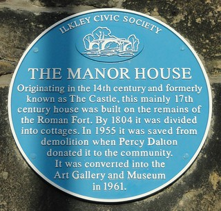 Manor House Blue Plaque, Ilkley