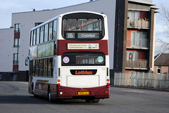 This bus was new to Lothian Buses as 753 in 2006, Seen here on a cold sunny day at West Granton....