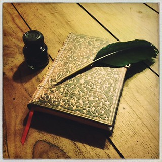 Sometimes going analogue is the only way to go. #writing #quill #ink #paperblanks #magic