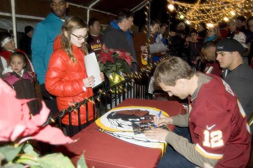 Kirk Cousins Signs Autographs