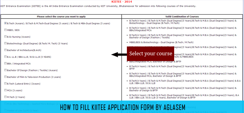 KIITEE 2014 Application Form Filling   How to fill the online application form in kiitee  Category