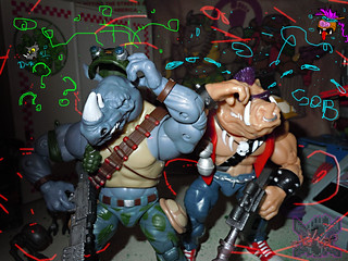 "TEENAGE MUTANT NINJA TURTLES - CLASSIC COLLECTION :: ROCKSTEADY & BEBOP { tOkKustom Punk touch-ups } xviii //  ""DURR"" --   (( 2013 ))"