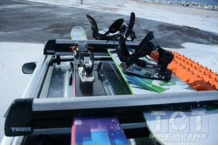GX-470 with a Thule ski & snowboard rack | TCT Magazine January 2014