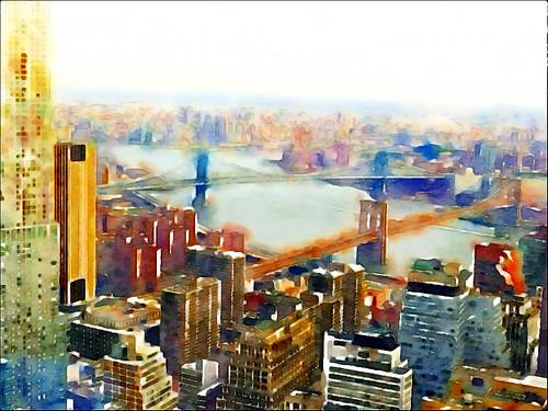 Looking to Brooklyn- iPad Art by David Scott Leibowitz