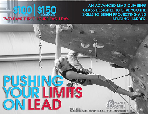 Pushing Your Limits on Lead Poster