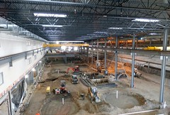 Photo of interior construction in the CRMF — Feb. 7, 2014