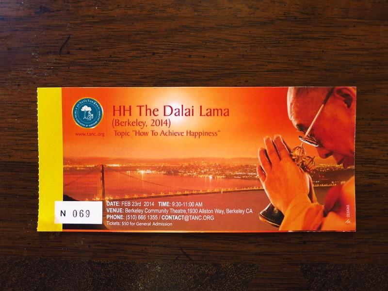 Dalai Lama ticket