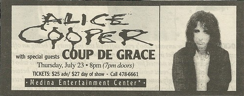 07/23/98 Alice Cooper/ Coup de Grace @ Medina Entertainment Center, Medina, MN