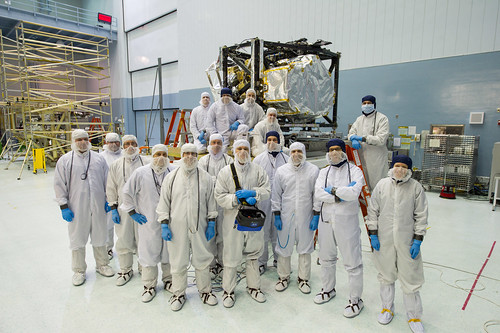 Webb Team Photo with Completed Flight Instrument module